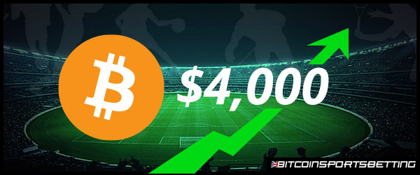 How Sports Bettors Will Benefit from High $4,000 Bitcoin Price