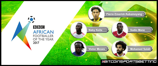 Five African football stars vie for this year's Footballer of the Year title