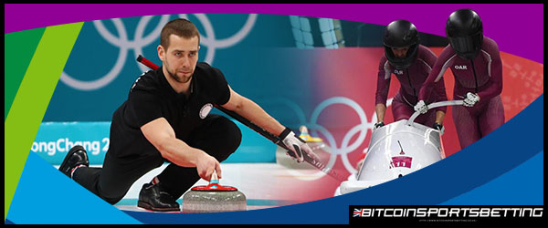 Alexander Krushelnitsky in Curling Event in Winter Olympics 2018