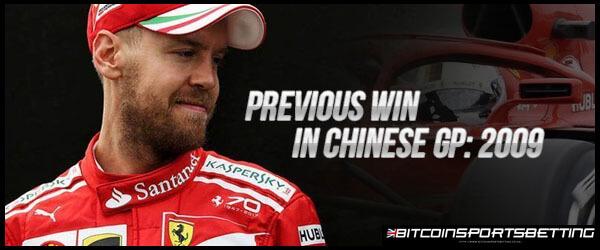 Sebastian Vettel Last Won in Chinese GP in 2009