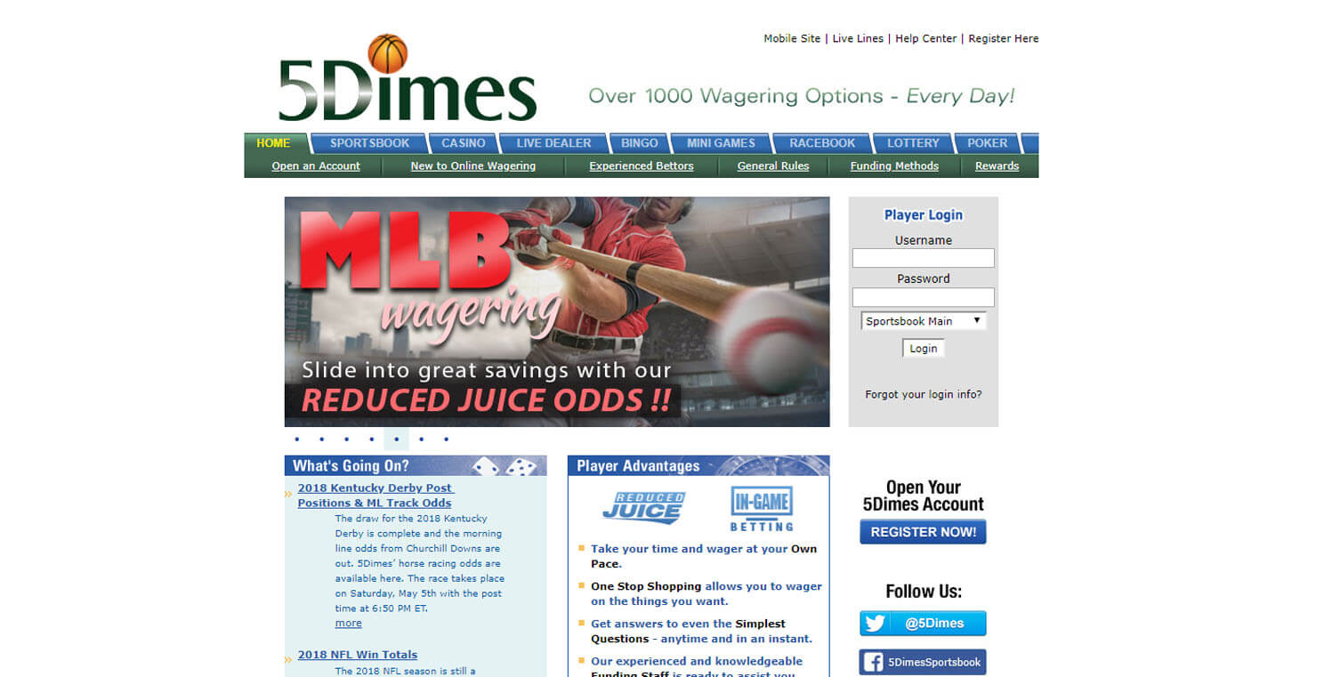 5Dimes Image 0
