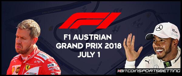 Sportsbooks Heavily Favor Hamilton for Austrian GP 2018