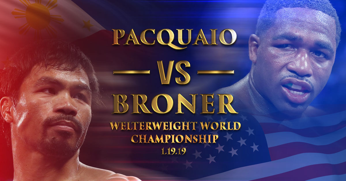 Bookies Favor Pacquiao over Broner in 2019 Champ Match
