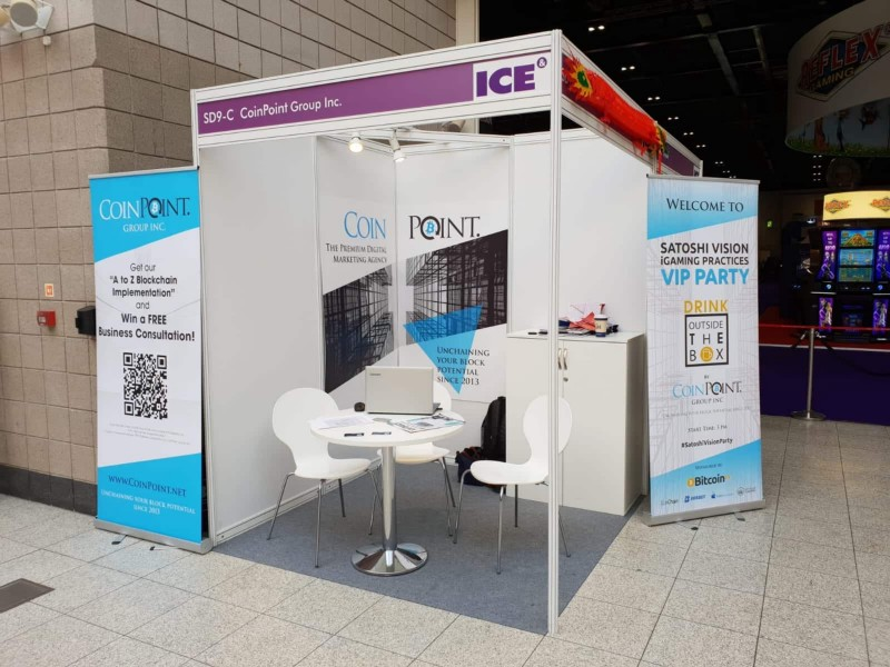 CoinPoint Booth at ICE London